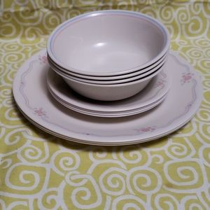 Vintage 1950's English Breakfast Corelle dishes